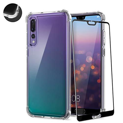 AChris Hülle kompatibel für Samsung Galaxy A8S A9 pro mit Schutzfolie Bildschirmfolie Verstärkter Eckenschutz Schutzhülle Stoßfest Anti-Fingerprint Transparente