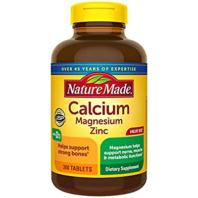 Nature Made Calcium Magnesium Zinc with Vitamin D3, 300 Count for Bone Health? (Packaging May Vary)