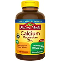 300-Count Nature Made Calcium, Magnesium Oxide, Zinc with Vitamin D3 Tablets