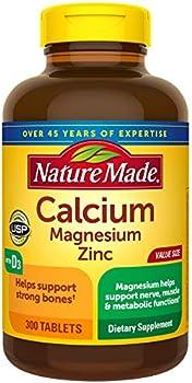 300-Count Nature Made Calcium, Magnesium Oxide, Zinc, D3 Tablets