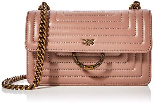 Pinko New Mini Love Quilting, Bolsa de mensajero para Mujer, 6x12.8x20.8 centimeters (W x H x L)