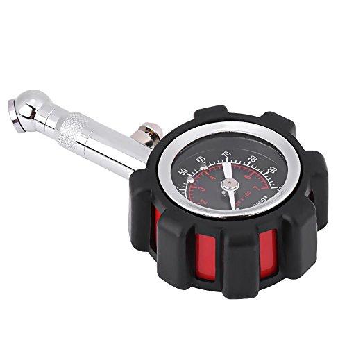 0-100PSI Reifendruckmesser, Professioneller manueller Hochleistungsreifenluftdruckprüfer Präzise Messung