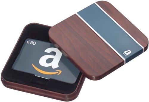 Amazon.de Geschenkkarte in Geschenkbox - 50 EUR (Braun und Blau)