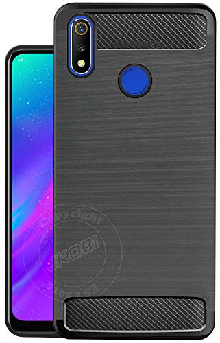 Jkobi 360 Protection Designed Soft Rubberised Back Case Cover For Realme 3 / Realme 3i -Black