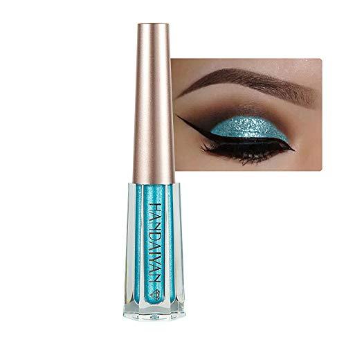 HANDAIYAN Métallisé brillant yeux fumé fard à paupières imperméable à l'eau Glitter eyeliner liquide,Créer le meilleur maquillage de scène (L)