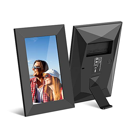 Scishion 7inch 16G WiFi Digital Photo Frame with HD IPS Display Touch Screen - Share Moments Instantly via Frameo App from Anywhere