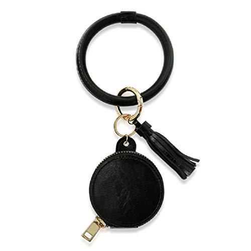 Protector de llaves Monedero de cuero Diseño Llavero Bolso Decoraciones Colgante Regalo creativo Adecuado para billetera Bolso bolsa de maquillaje transparente pulsera para bolso