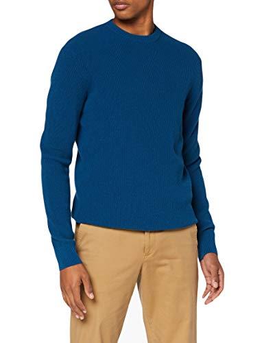 Sisley Sweater L/s Maglione, Poseidon 10f, S Uomo