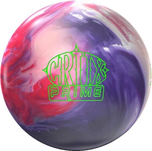 Storm Crux Prime, Rot/Weiß/Lila solid Oberfläche, Reaktiv Bowlingkugel für Einsteiger und Turnierspieler - inklusive 100ml EMAX Ball-Reiniger Größe 15 LBS