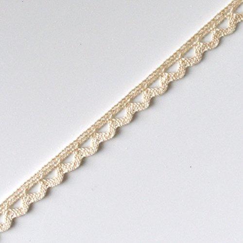 Plush Addict Scalloped Edge Cotton Lace Trim 10mm Wide White Per Metre