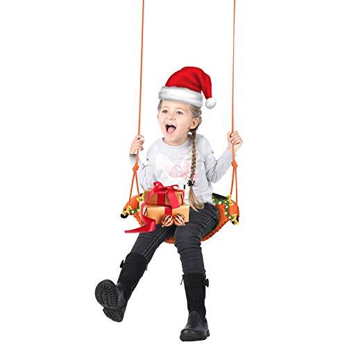 Kinder Nestschaukel, Klein Hängesessel Schaukel Gartenschaukel Hängestuhl Hängematte Hängesitz Garten-Schaukel Tellerschaukel für Kinder Drinnen Draußen Kinderzimmer(Belastbarkeit bis 150 kg inkel.)
