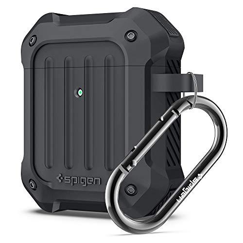 Spigen Tough Armor Compatible con Apple Airpods 1&2 Funda [LED Frontal Visible] - Carbón