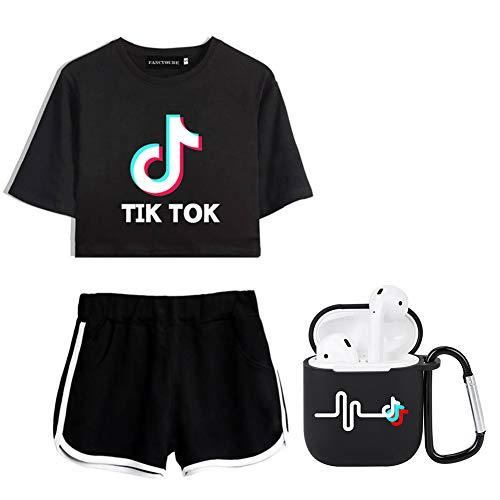 Lady Bug TIK-Tok Camiseta + pantalones cortos + Airpods manga protectora traje casual