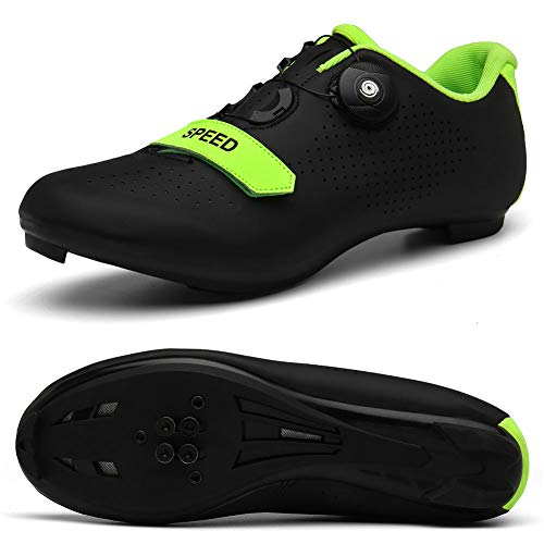 Men's Road Bike Cycling Shoes Peloton Shoe for Men Bicycle Shoes Compatible with SPD and Delta Cleats Black 11