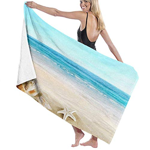 chillChur-DD Bath Towel Badetuch Wrap Seashells Prints Womens Spa Dusche und...