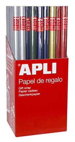APLI 13644 Papel Regalo Kraft Color, 2 X 0,70 ⭐