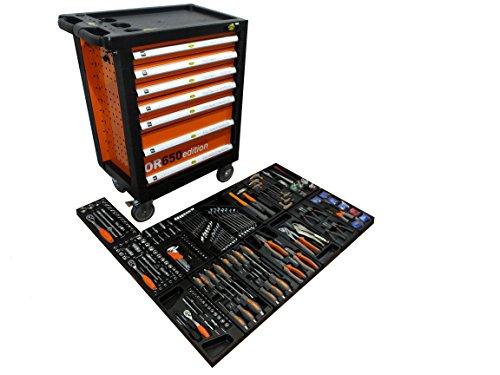 Benson Tools Werkstattwagen gefüllt mit Werkzeug! Werkzeugschrank Werkzeugwagen Werkzeugkiste