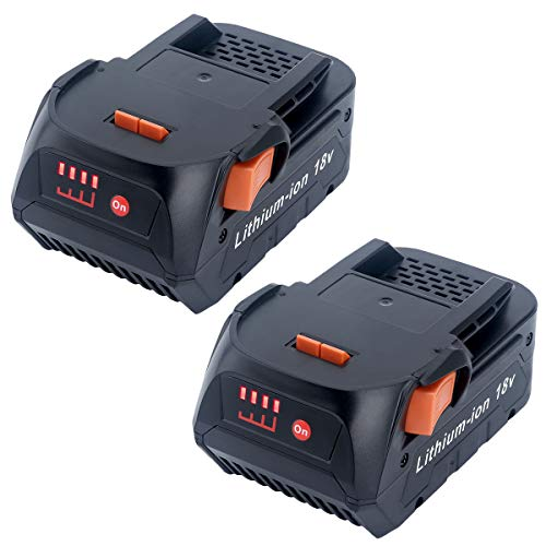 Elefly 2 Pack 18V 4.0Ah Lithium Battery Replacement for Ridgid 18V Battery R840087 R840083 R840086 AC840085 AC840087P Ridgid 18V Drill Tool Battery
