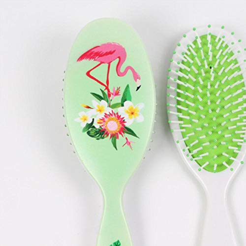 Scalp Massage Comb Anti-statique Paddle Brush Hair Styling Tool Cute Women Detangle Hairbrush Curly Hair Wig Detangling Hair Brush, Light Green