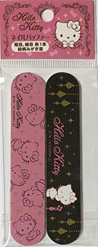 T&T Sanrio Hello Kitty Nail File & Nail Polish Manicure Files kit 2pcs Set 2×10cm (Pink&Black)