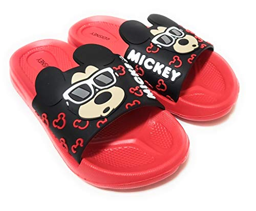 Ciabatte Topolino per spiaggia o piscina - Ciabatte Disney Mickey Mouse 3D per bambini Rosso Size: 27/28 EU