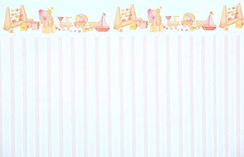 Melody Jane Puppenhaus Pink Toystripe Miniatur Druck 1:12 Maßstab Kinderzimmer Tapete