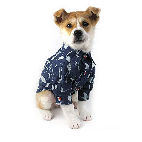 XSARACH Hundekleider,Haustierkleidung,Trendy Kleidung für Frühling und Herbst für Teddy Hund,Cowboy-Kleidung für Hunde,Flauschentwurf,Crane,L