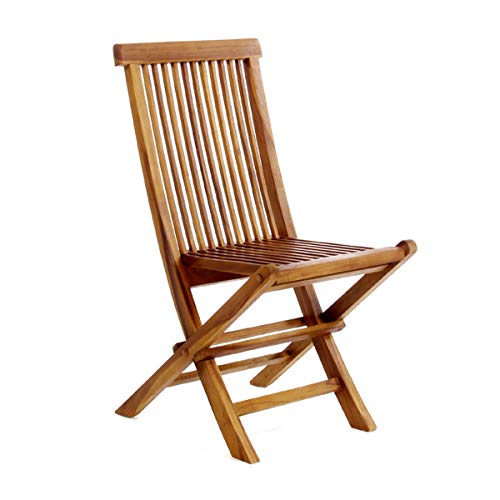 All Things Cedar Single Teak Folding Chair