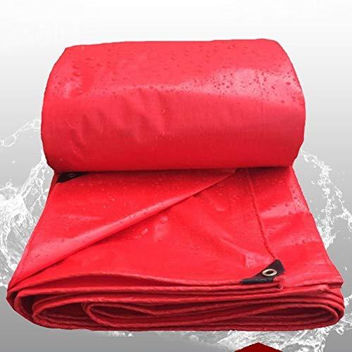 LYLSXY Grueso 0.23Mm Lona Alquitranada,Rojo Impermeable Paño Impermeable Lona,Jardín Lona Al Aire Libre Toldo Sombrilla Paño a Prueba de Polvo/rojo / 3X4M