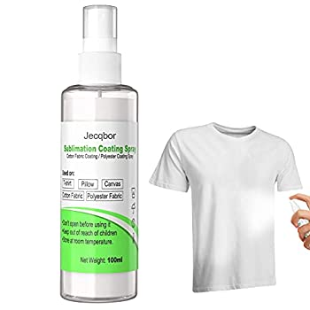 Jecqbor 100ml Sublimation Coating Spray for Cotton T-Shirts & Blends All Fabric Including Polyester Mouse Pad Carton Canvas Polyester/Cotton Blends with High Gloss Finish and Quick Dry