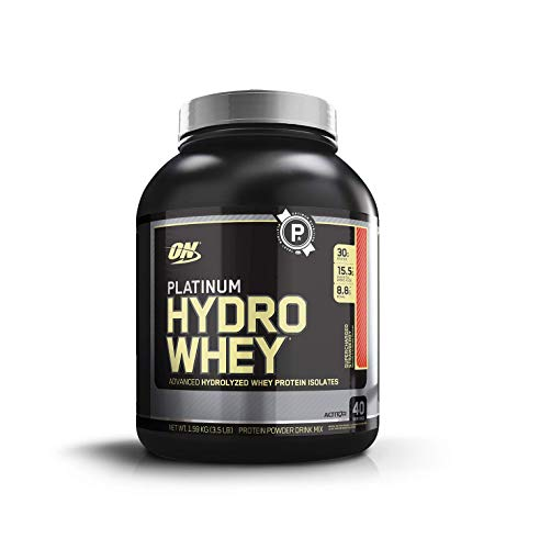 Optimum Nutrition Hydro Whey Hydrolised Whey Protein Isolate with Essential Amino Acids, Glutamine and BCAA, Strawberry, 40 Servings, 1.6 kg