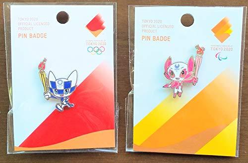 東京2020 オリンピック パラリンピック ピンバッジ 聖火リレー ミライトワ ソメイティ 2種