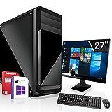 Intel Core i5-10600K 6x4.1GHz Office-PC und Allro& Rechner mit Monitor |Marken Board|27 Zoll TFT|16GB DDR4|1TB M2|Intel UHD 630 4K HDMI|WLAN|Win 10 64Bit|3 Jahre Garantie|geeignet für Office