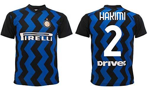 Maglia Hakimi Inter 2021 Home Ufficiale 2020-2021 Adulto Ragazzo Bambino Achraf nerazzurra 2 (M Adulto)
