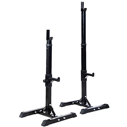 SavingPlus Heavy Duty Adjustable Gym Squat Barbell Power Rack Stand (Black)
