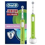 Cepillo de dientes eléctrico recargable Oral-B Junior para niños de 6 años en adelante, verde