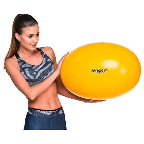 Original PEZZI Eggball Standard 45 cm gelb Sitzball Gymnastickball Pezziball