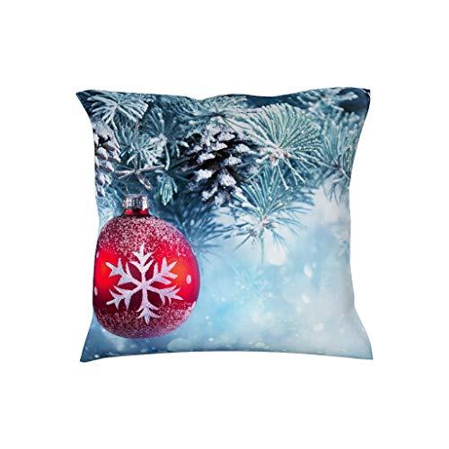 BOBONC Kussenslopen 18 x 18 inch Soft Decoratieve vierkante kussenslopen in polyester weefsel witte sneeuw - Hema voor bank kussen