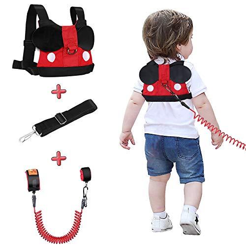 Lehoo Castle Guinzaglio per bambini per passeggiate, Imbracature di sicurezza per bambini Guinzagli per bambini, Imbracatura di sicurezza per bambini, Cinture di sicurezza anti-polso (Nero)