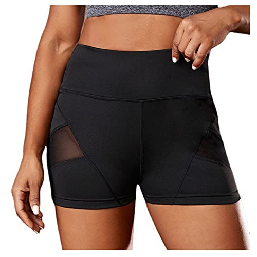 Yurmony Leggings de Mujer Cintura Alta Patchwork Leggins de Deporte Casual Transpirables Shorts Deportivos Push Up para Mujer Pantalón Corto Deporte Mujer Running Training Fitness