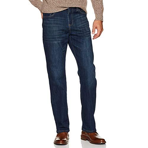 IZOD Men's Comfort Stretch Denim Jeans (Relaxed Fit), Mazarine, 30W x 30L