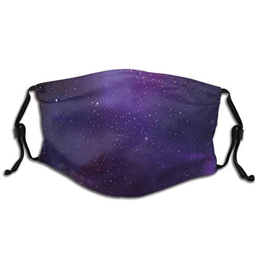Unisex-Wiederverwendbare Gesichtsabdeckung Galaxy Nebula Illustration Deep Space Sternhaufen und Sternbild Milchstraße Verstellbare abwaschbare Gesicht Mundbedeckung