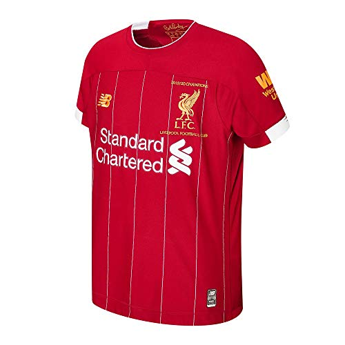 New Balance Liverpool FC 2019/20 Champions Home Junior SS Jersey Camiseta, Infantil, Rojo, MB