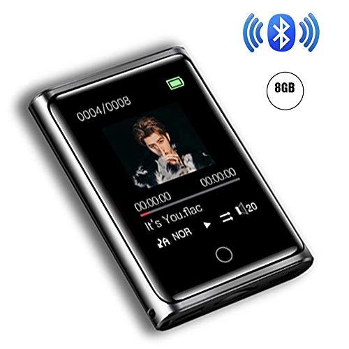 8/16GB MP3 Bluetooth4.0 Reproductor,2.0 Pulgadasde MP3 Pantalla Táctil Completa HiFi Sin Pérdida De Sonido MP3 Running, FM Radio, Capacidad Máxima 128G,8g