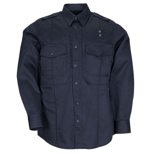 5.11 Tactical Taclite Class B PDU T-Shirt à Manches Longues avec Poches Style 72366 Large Bleu Marine de Minuit.
