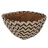 Macetero de coco, cesta natural colgante con cubierta de lino impermeable para plantas de jardín con envoltura periférica para el hogar al aire libre jardinería
