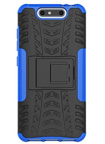 XINFENGDI ZTE Blade V8 Hülle,Handytasche Kratzfest aus TPU/PC Material Reifenprofil Handyhülle Kompatibel mit für ZTE Blade V8 - Blau
