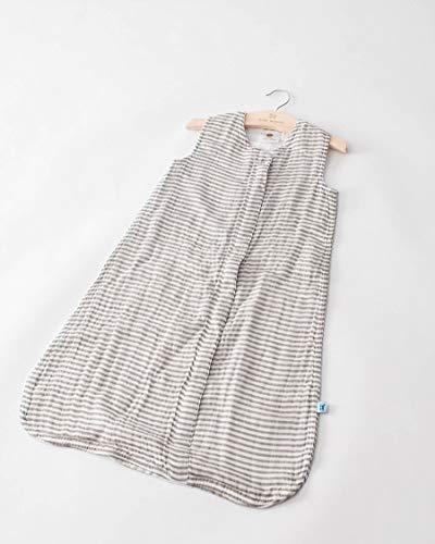Little Unicorn | Cotton Muslin Sleep Bag Small - Gigoteuse mousseline coton taille S (Grey Stripe)