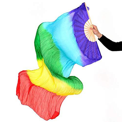 KRILY Danse du Ventre éVentail Coloré éVentail Danse du Ventre Danse du Ventilateur,8pairs