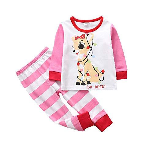 Flower shave Conjunto De Pijama De Dos Piezas De Manga Larga, Divertido Pijama De Santa Unisex, Conjunto De Pijama Infantil De Navidad, Ropa De Bebé (80/90/100/110/120),H-110